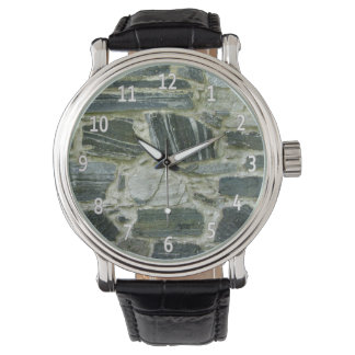Pared de piedra vieja relojes de pulsera