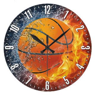 Pared decorativa del baloncesto reloj redondo grande
