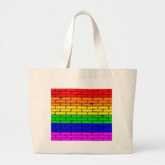 Pared del arco iris del Transexual Bolsa Tela Grande