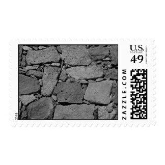 Pared del basalto timbre postal