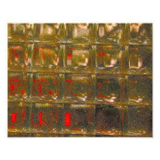 Pared del bloque de cristal impresion fotografica