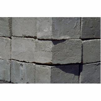 Pared del bloque del cemento fotoescultura vertical