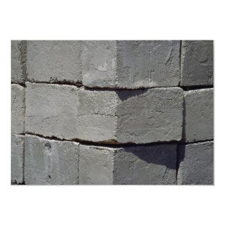"""Pared del bloque del cemento invitación 5"""" x 7"""""""