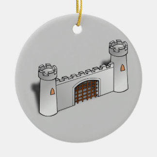 Pared del castillo ornaments para arbol de navidad