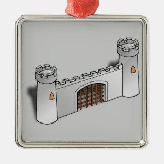 Pared del castillo ornamentos de navidad