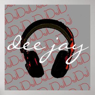 pared del decorantig del auricular de DJ de la mús Posters