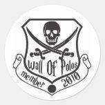 Pared del escudo de los polos etiquetas redondas