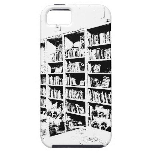 Pared del libro de la pluma y de la tinta iPhone 5 funda