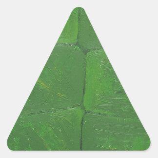 Pared del musgo modelo texturizado botánico calcomanías de trianguladas