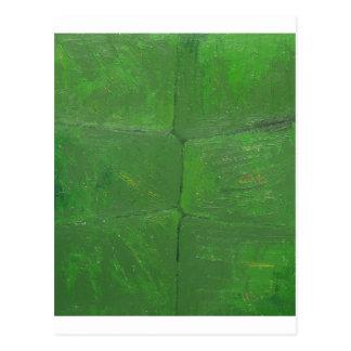 Pared del musgo (modelo texturizado botánico) postal