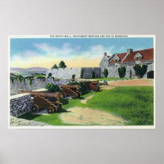 Pared del sur, bastión del sudoeste, cuarteles del póster