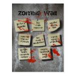 Pared del zombi tarjeta postal