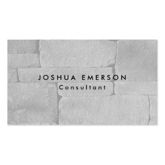 Pared gris elegante llana simple moderna tarjetas de visita