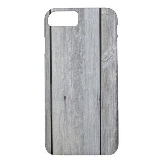 Pared gris vieja del granero funda iPhone 7