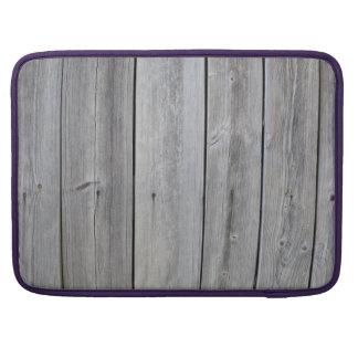 Pared gris vieja del granero funda para macbooks