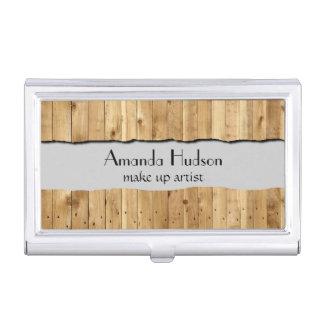 Pared hecha de tablones de madera del pino - Brown Cajas De Tarjetas De Presentación