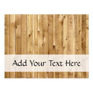 Pared hecha de tablones de madera del pino - Brown Postal