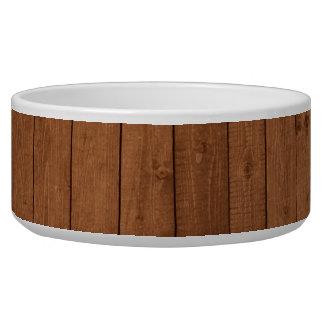 Pared hecha de tablones de madera viejos - Brown Tazón Para Perro