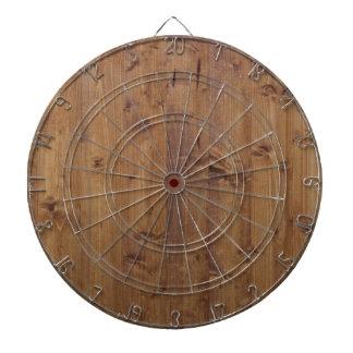 Pared hecha de tablones de madera viejos - Brown Tablero Dardos