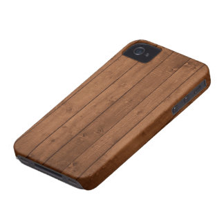 Pared hecha de tablones de madera viejos - Brown Case-Mate iPhone 4 Protector