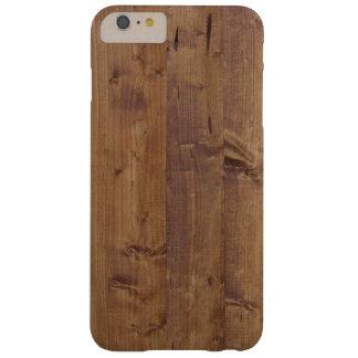Pared hecha de tablones de madera viejos - Brown Funda De iPhone 6 Plus Barely There