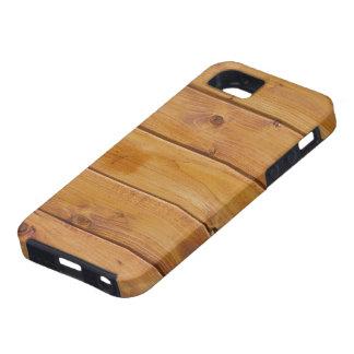 Pared hecha de tablones de madera viejos - Brown iPhone 5 Case-Mate Carcasas