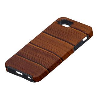 Pared hecha de tablones de madera viejos - Brown iPhone 5 Carcasas