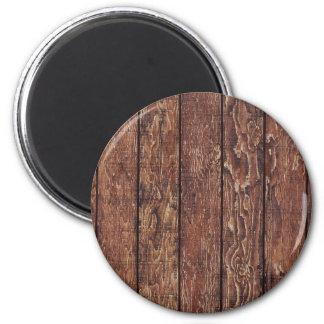 Pared hecha de tablones de madera viejos - Brown Imán Para Frigorífico