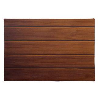 Pared hecha de tablones de madera viejos - Brown Manteles Individuales