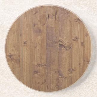 Pared hecha de tablones de madera viejos - Brown Posavasos Diseño