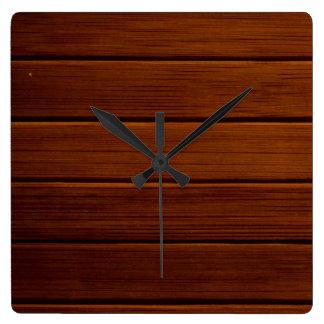 Pared hecha de tablones de madera viejos - Brown Relojes De Pared