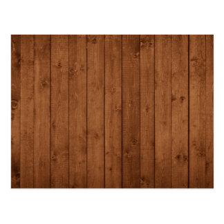 Pared hecha de tablones de madera viejos - Brown Postal