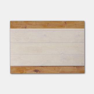 Pared hecha de tablones de madera viejos - Brown Post-it Nota