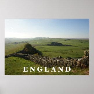 Pared Inglaterra de Hadrians Poster
