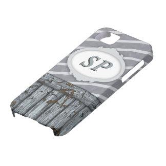 Pared marítima - gris iPhone 5 cárcasa