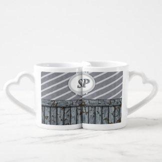 Pared marítima - gris tazas amorosas
