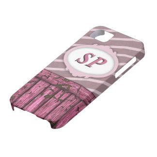 Pared marítima - rosa iPhone 5 fundas