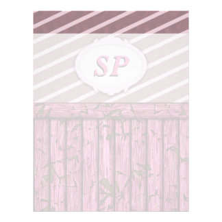Pared marítima - rosa membrete personalizado