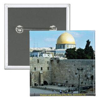 Pared occidental con la bóveda de la roca, Jerusal Pins