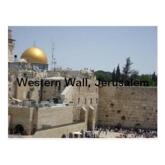 Pared occidental, Jerusalén Postal