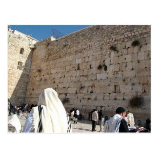 Pared occidental, Jerusalén Tarjeta Postal