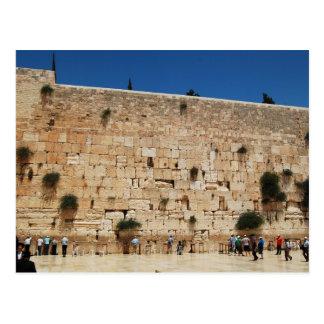 Pared occidental, postal de Jerusalén