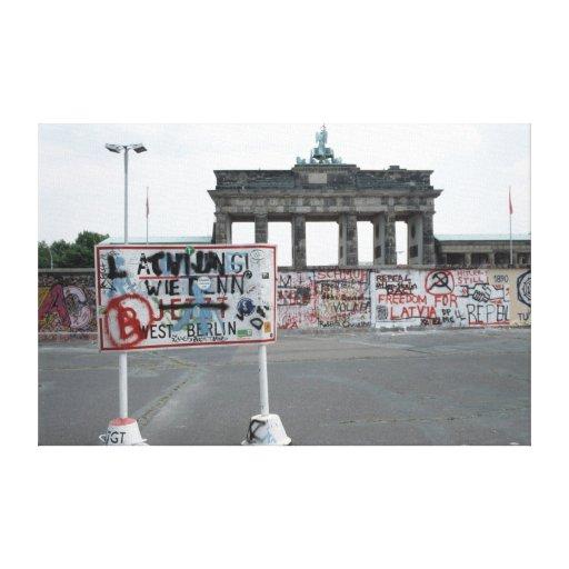 Pared-Oeste Alemania 1989 de Berlín Lienzo Envuelto Para Galerias