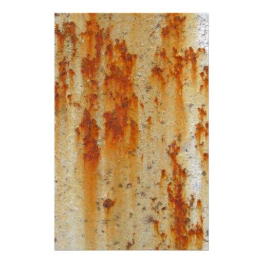 Pared oxidada de la prisión papeleria personalizada