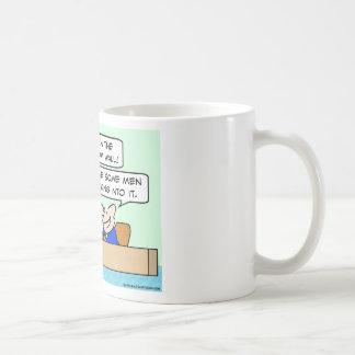 pared para mujer del sitio de resto taza de café