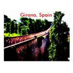 pared psicodélica del puente de Girona, España Tarjetas Postales