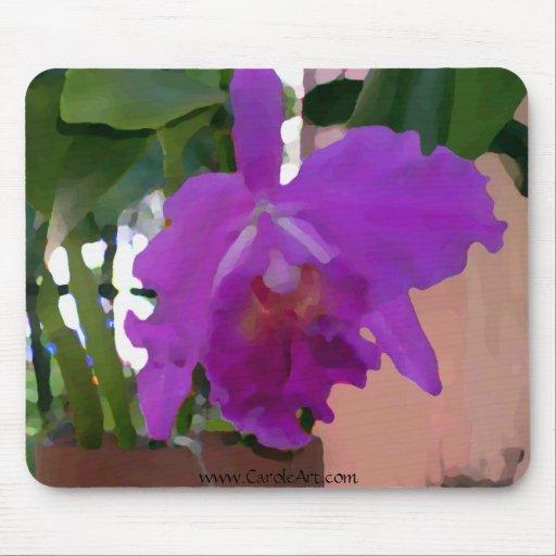 Pared púrpura Potted del rosa de la orquídea Tapete De Ratón