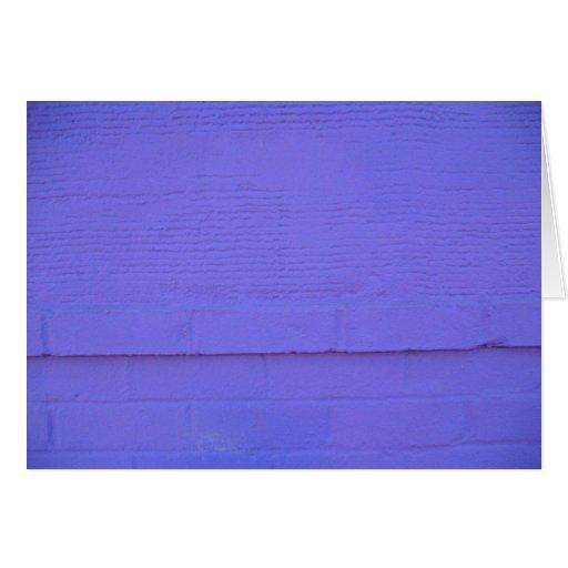 Pared púrpura - tarjeta de felicitación