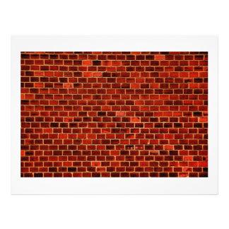 pared roja plantillas de membrete