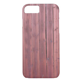 Pared roja vieja del granero del plankd funda iPhone 7